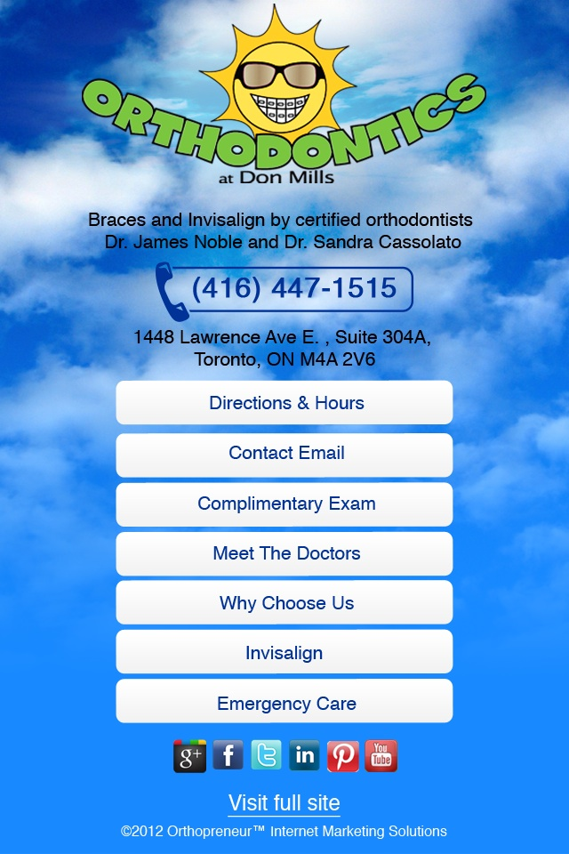 Orthodontics at Don Mills mobile site
