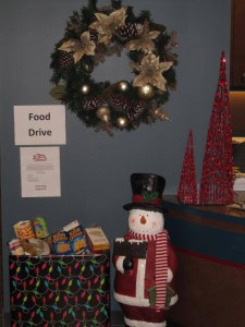 Thanks to our patients who donated food those in needed!
